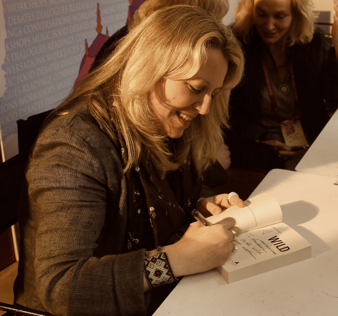 Cheryl Strayed signs books for her fans